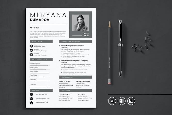 Thumbnail for CV Resume Vol.15