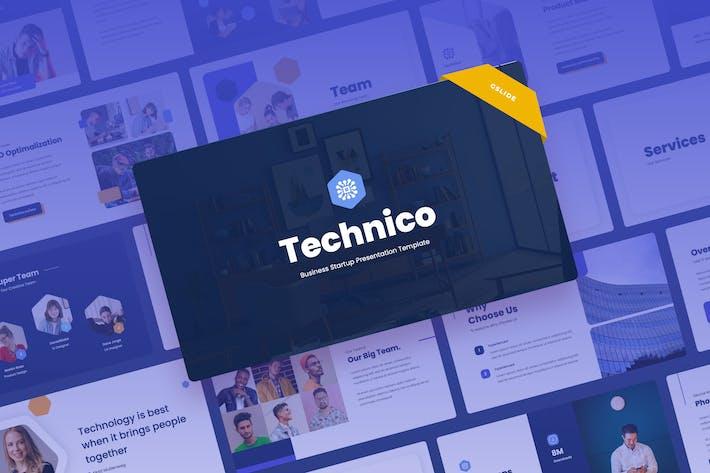 Thumbnail for Technico - IT & Tech Google Slides Presentation