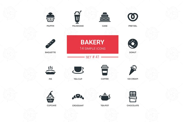 Thumbnail for Bakery concept - flat design icons set