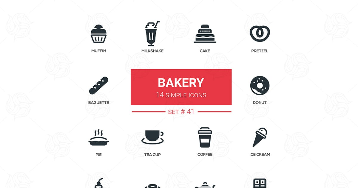 Download Bakery concept - flat design icons set by BoykoPictures