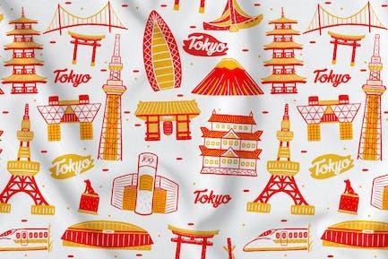 Tokyo Nahtloses Muster