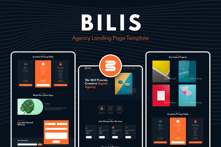 Thumbnail for Bilis - Agency Landing Page Template