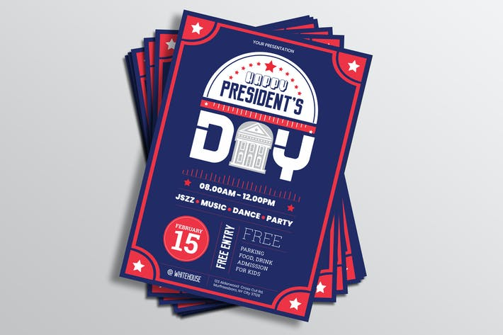 Thumbnail for US Presidents Day Flyer Template