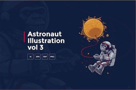 Astronaut Tshirt Graphic vol 3