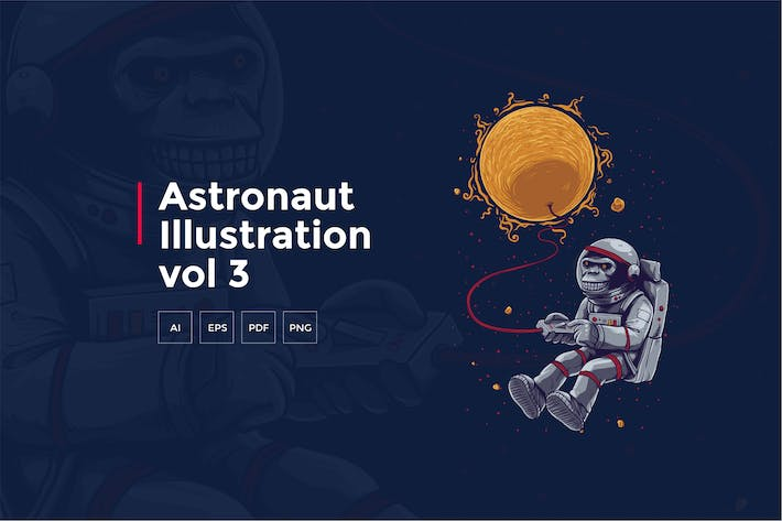 Thumbnail for Astronaut Tshirt Graphic vol 3