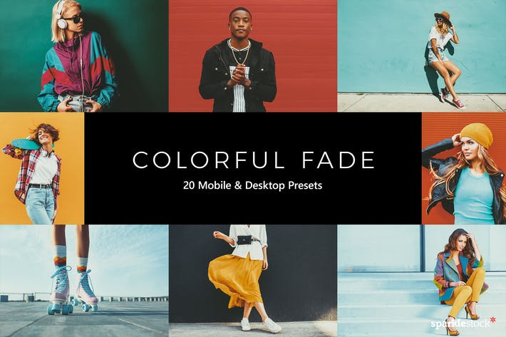 Thumbnail for 20 Colorful Fade Lightroom Presets & LUTs