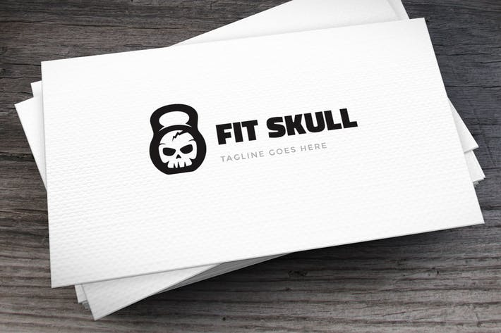 Thumbnail for Fit Skull Logo Template
