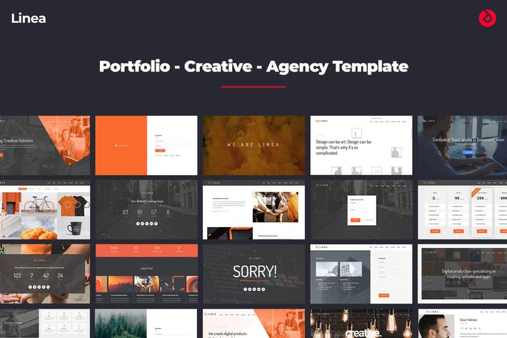 Thumbnail for Linea - Porfolio, Creativo, Agencia, Multiusos