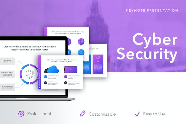Thumbnail for Cyber Security Keynote Template