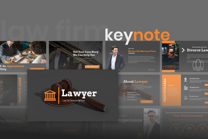 Thumbnail for Lawyero - Law & Firm Keynote Presentation