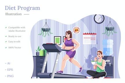 ilustración del programa de dieta