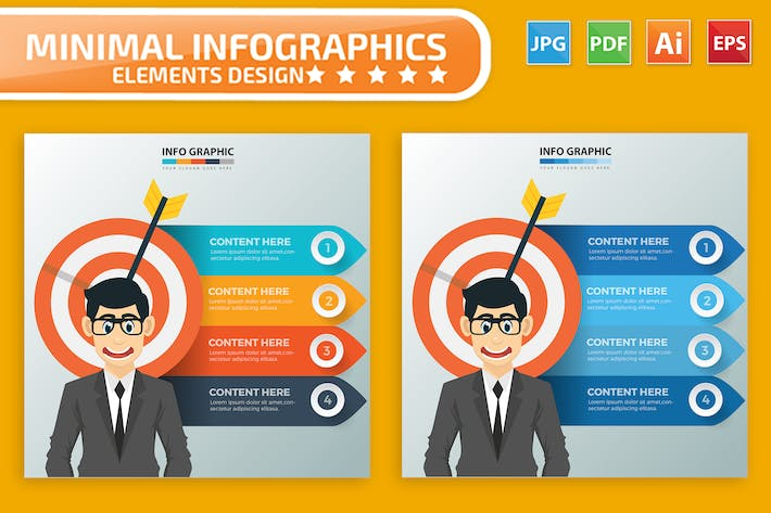 Thumbnail for Target Businessman Infographics