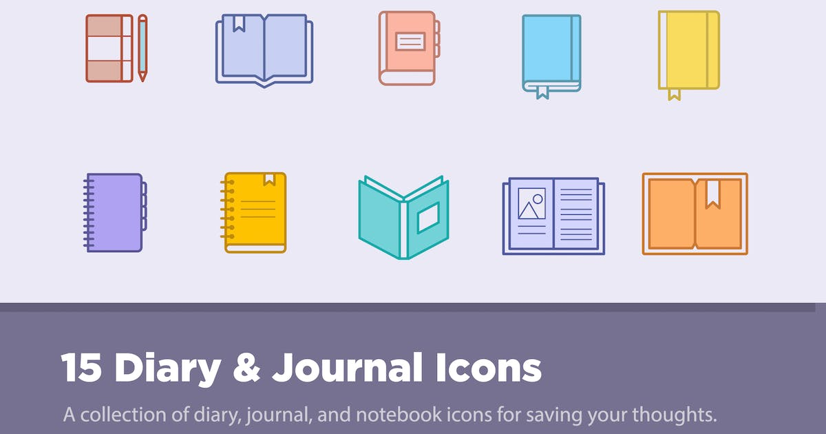 Download 15 Diary & Journal Icons by creativevip