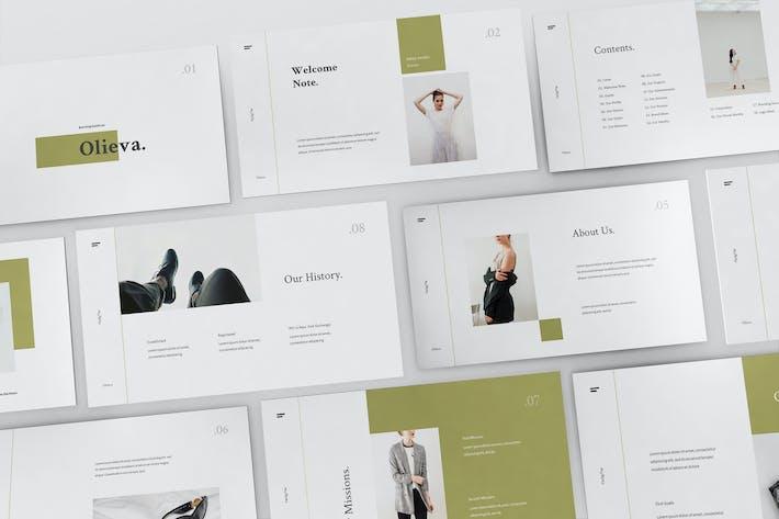 Thumbnail for Olieva - Руководство по брендинству Powerpoint