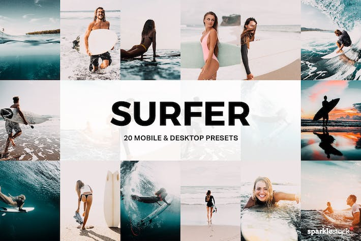 Cover Image For 20 Surfer Lightroom Presets and LUTs