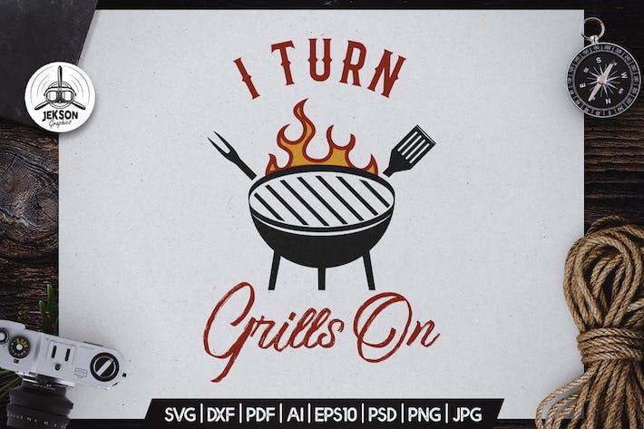 Thumbnail for Insigne Vecteur rétro pour barbecue