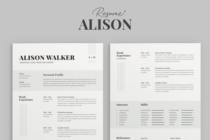 Thumbnail for Resume Template Professional