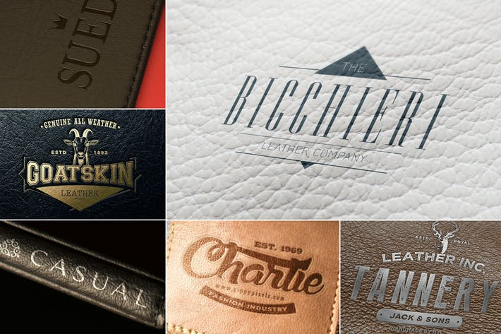 Thumbnail for Leather Branding Logo Mockups