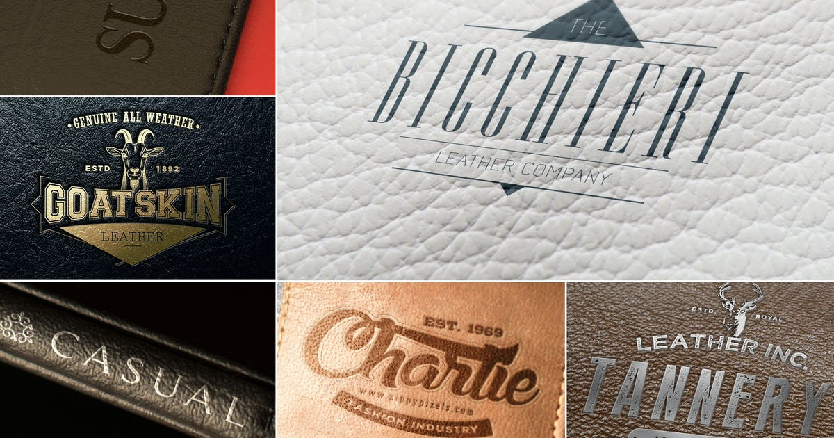 Download Leather Branding Logo Mockups by zippypixels