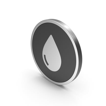 Silver Icon Water Drop