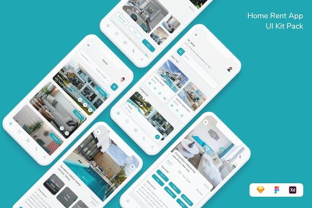 Home Rent App UI Kit Pack
