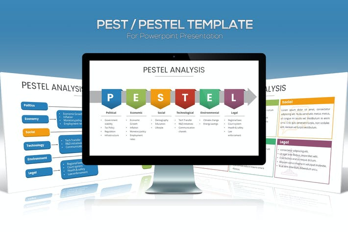 Thumbnail for PEST / PESTEL Diagram Template for Powerpoint