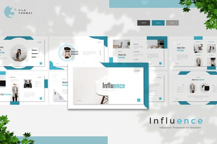 Influence - Influencer Presentation Template