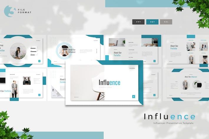 Thumbnail for Влияние - Шаблон представления Influencer