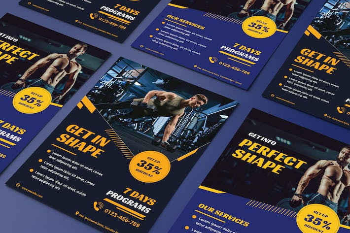 Thumbnail for Fitness flyer template