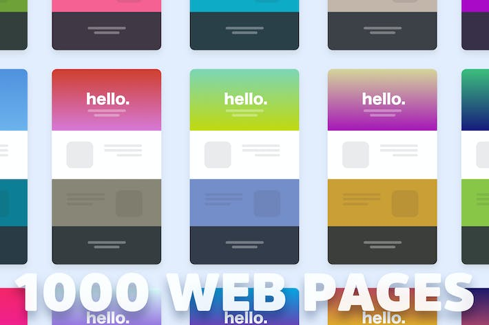 Thumbnail for 1000 Web Page Color Themes