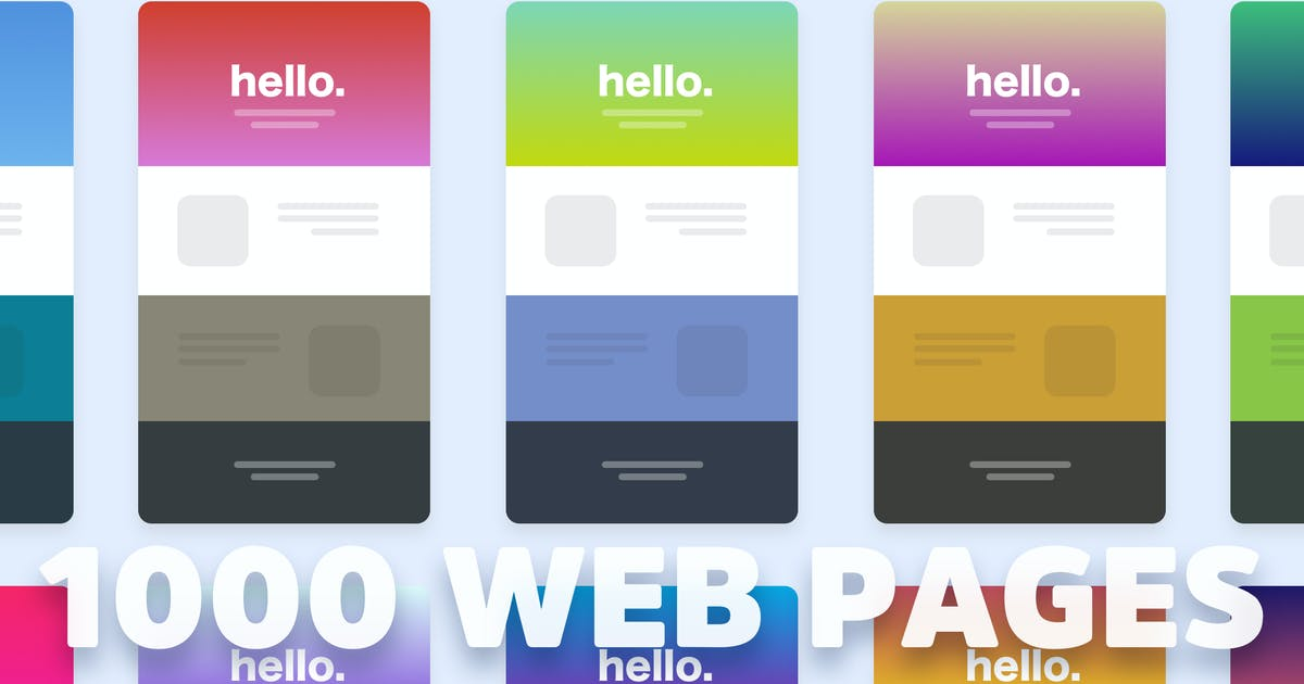 Download 1000 Web Page Color Themes by cerpow