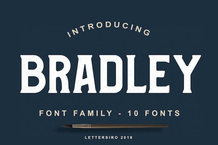 Thumbnail for Bradley Font Family