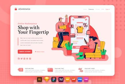 Landing Page V.19 E-Commerce - Online Shopping
