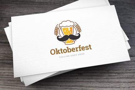 Moberfest Moustache Logo Template