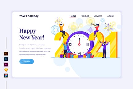 Celebrate New Year Illustration - Agnytemp