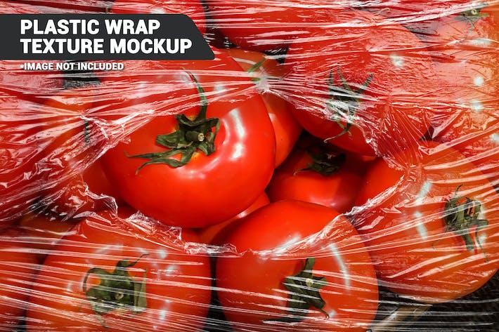 Thumbnail for Transparent Plastic Wrap Texture Mockup