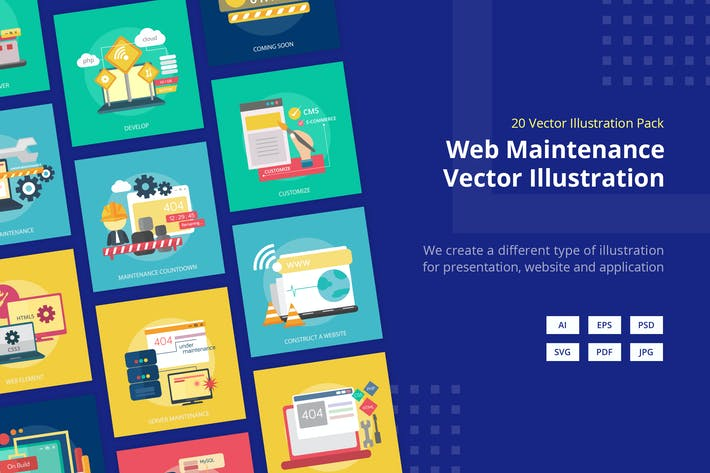 Cover Image For Web Maintenance Vector Illustration