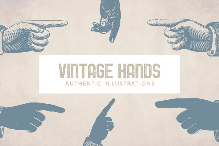 Thumbnail for Vintage Hands Illustrationen