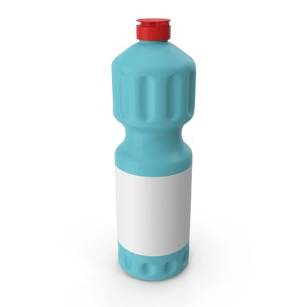 Blue Cleaning Product Bottle with Red Cap 5