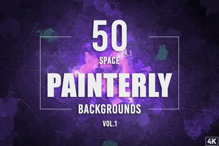 50 Painterly Space Backgrounds - Vol. 1