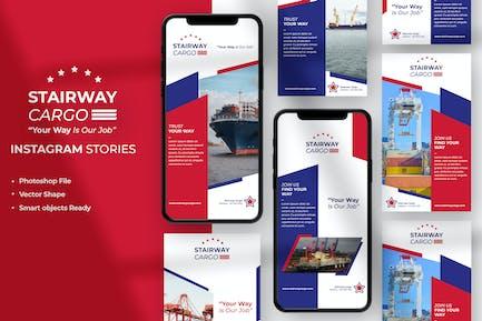 Stairway Cargo - Logistics Instagram Story