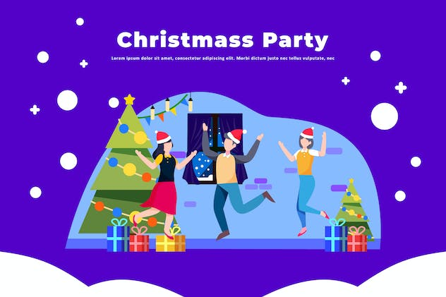 Christmas Party - Activity Illustration