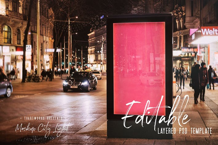 Thumbnail for City Light Board Poster Mockup 26