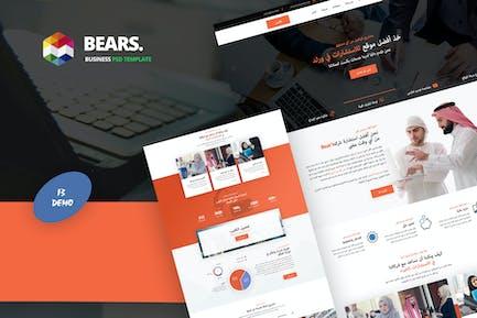 Bear's - Arabic Business PSD Template