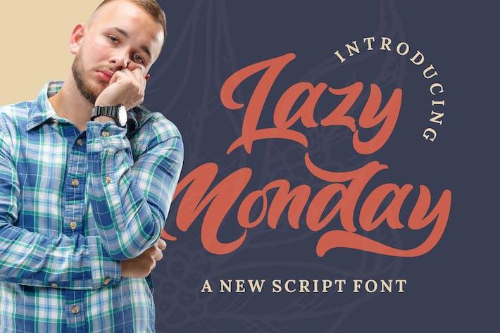 Thumbnail for Lazy Monday - Fuente de escritura en negrita