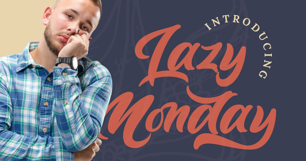 Download Lazy Monday - Bold Script Font by StringLabs