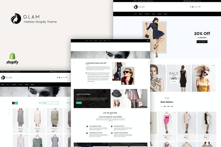 Thumbnail for Glam - Fashion Shopify Theme