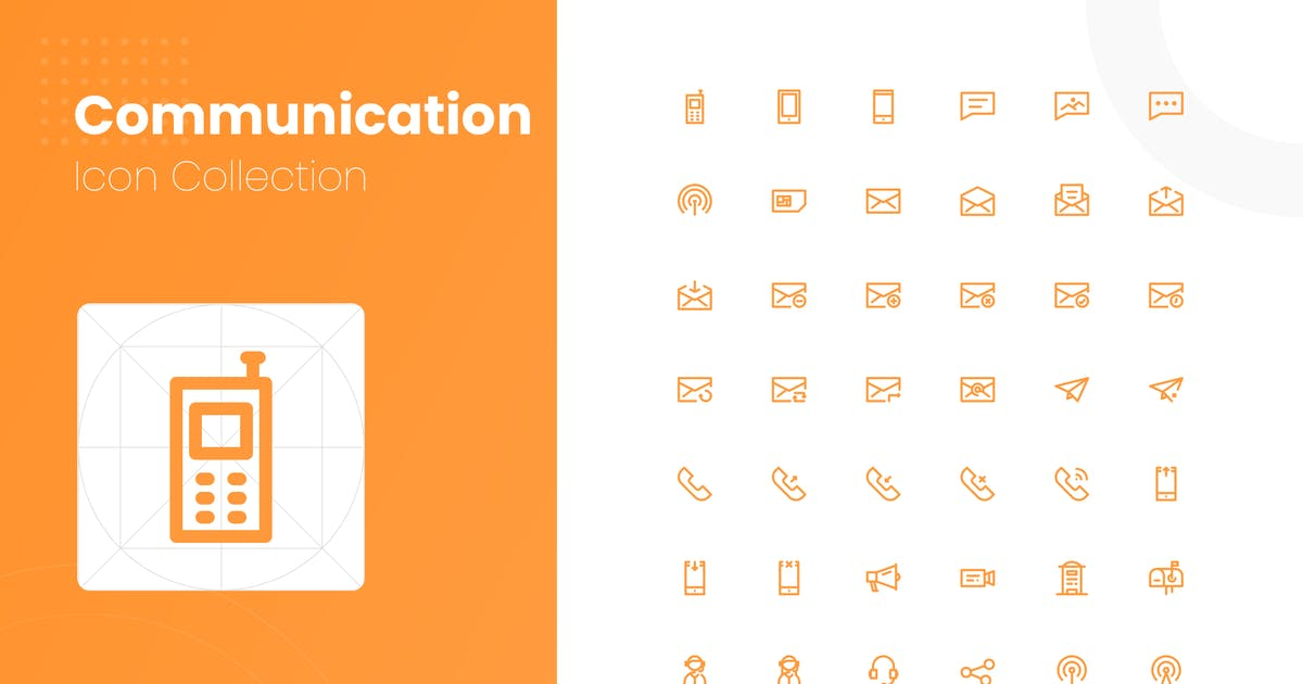 Download 48 Communication Icon Collection by studiotopia