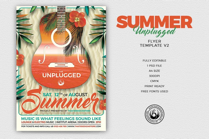 Thumbnail for Summer Unplugged Flyer Template V2