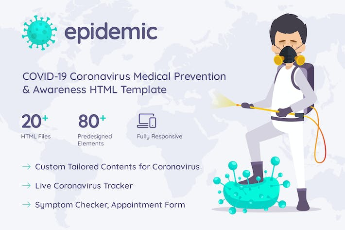Thumbnail for Epimed Coronavirus HTML Template